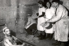 Baking Matzos in Hiding, 1943