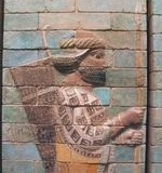 Glazed brick frieze of SOLDIER from SUSA PALACE